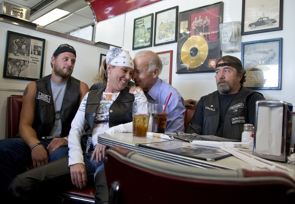 Great Biden photo or greatest Biden photo? (Photo via AP)