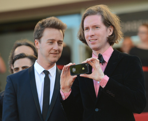 Part One of Wes Anderson loves his iPhone. Cannes 2012. I seriously want to see the movie he made on it during the Moonrise Kingdom premiere.
