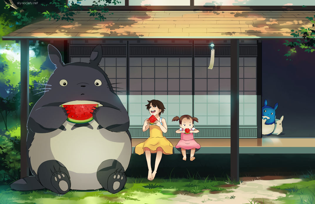 nightversion:  My Neighbour Totoro by ~Aquarius-Chan