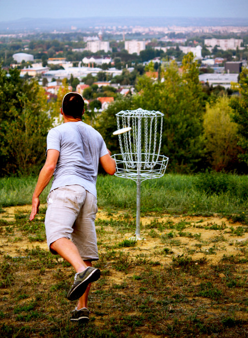 When in Budapest, go play Spiritus SC Disc Golf Course. The local players have just this year opened a permanent 14 hole course, standing on a nice grassy hill that once served as a landfill site to bury all the debris generated by bombings of the city at WW2. All the baskets and other course infrastructure have been produced locally and paid by the local players. This is definitely an interesting course to visit and I hope to see a great future for the course itself and Disc Golf in Hungary as a whole.