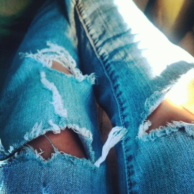 #ripped #jeans  (Taken with Instagram)
