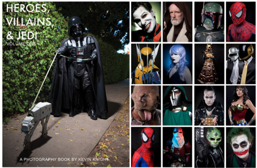 Hey guys! Check out photographer Kevin Knight's new iBook, Heroes, Villains, & Jedi. It's over 100 cosplay portraits taken at various comic book conventions and random locations bringing some of your favorite characters to life! Best of all…. it's FREE! Here's the link to the book: http://itunes.apple.com/us/book/heroes-villains-jedi/id513834961?mt=11