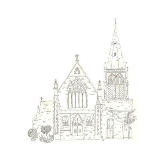 Incomplete wedding commission of Trinity Church in Penarth