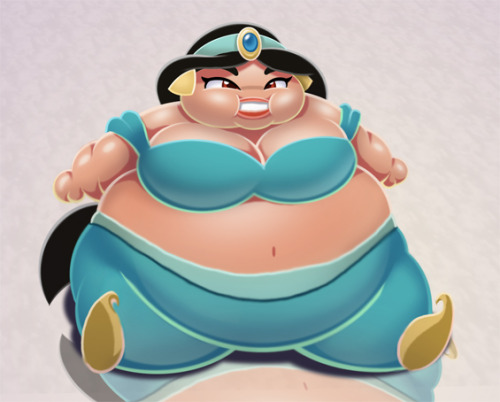 fyeahroundchicks:  Fat Princess Jasmine by ~TubbyToon