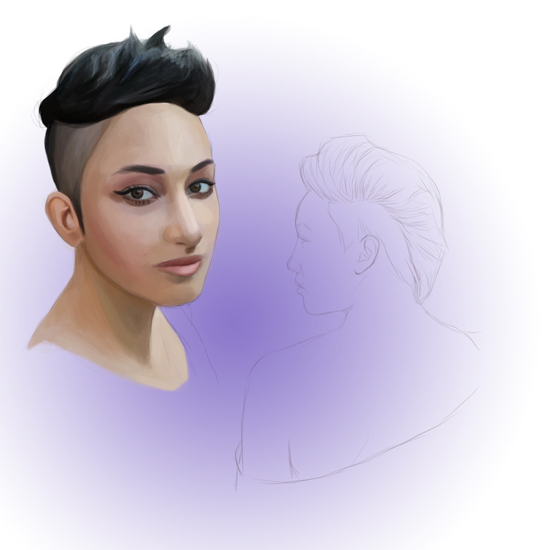 Another unfinished upload. Hair's not working, and I will probably end up redoing it altogether.