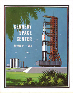 klappersacks:  Kennedy Space Center Sticker - 1970's by JasonLiebig on Flickr.
