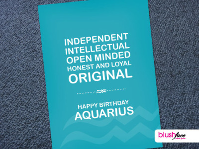 blushface:  Aquarius signs are Independent, Open Minded, Intellectual, Honest, Loyal and Original. Give this greeting card to them http://etsy.me/RRZxse