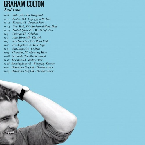 My fall U.S tour dates. More on the way! #Coltontour2012 (Taken with Instagram)