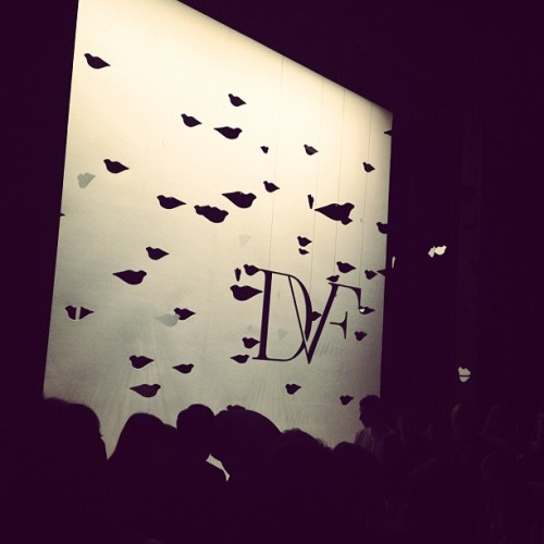 Kiss! Kiss! @dvf #nyfw  (Taken with Instagram)