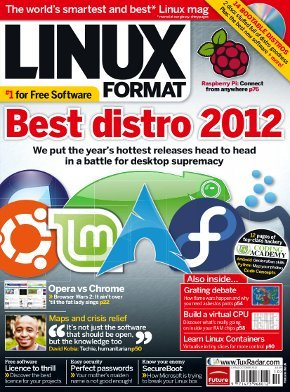 "In its October 2012 issue, Linux Format ranked Linux Mint as the ""Best Distro 2012″."