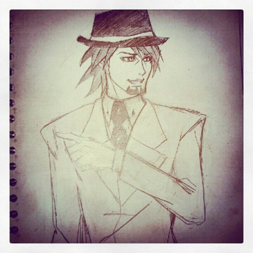 Kotetsu sketch :3 (Tomada con Instagram)Since dragon kid sketch and my report are not going well, i decided to sketch, eat dinner and try again later :'(