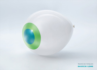 Glaucoma Care. Coming Soon. Bausch & Lomb Ad