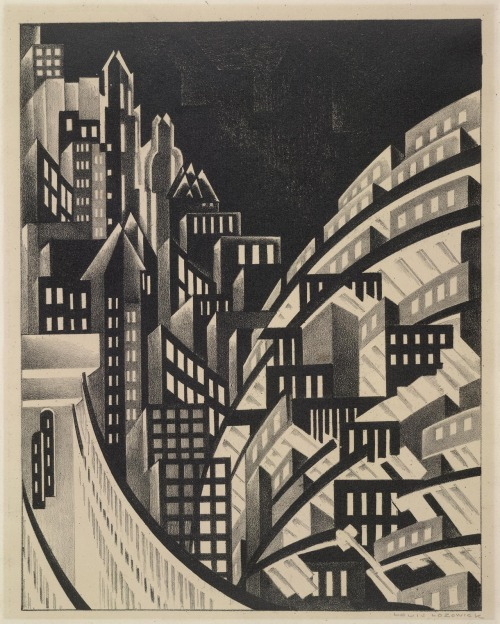 NEW YORK NEW YORK, we love this 1930s print of the city by Lee Lozowick