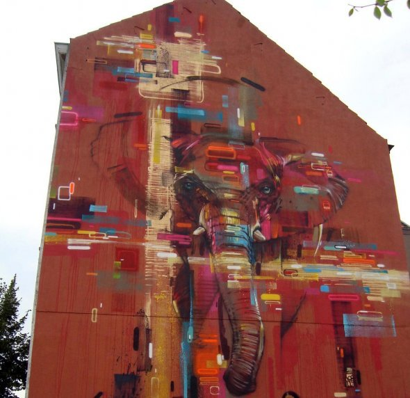 mer-different-art:  (via Creative Street Art - Wall to Watch) Really creative street art here, I have so much respect for these guys.