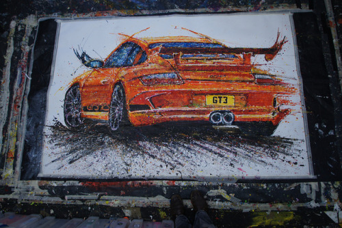 zedutchoven:  Porsche GT3 RS by popbangcolour on Flickr.