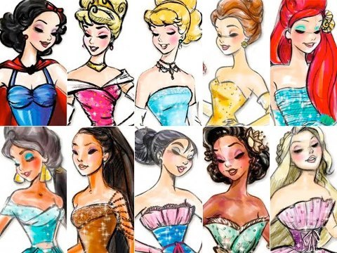 Fan - Arte das Princesas da Disney
