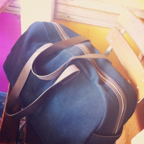 leftover from LA, @everlane weekender at Le Pain Quotidien (Taken with Instagram)