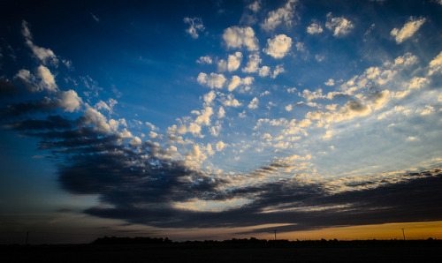 Evening Sky on Flickr.Via Flickr: Evening sky overlooking wheat fields, Eccles-On-Sea, Norfolk. Shot on a Nikon D5100 and post processed in Lightroom. Image by Gary Danton, August 2012.Twitter | Facebook | Blog