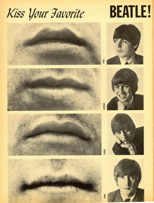 weirdvintage:  Kiss Your Favorite Beatle - 16 Magazine, 1965
