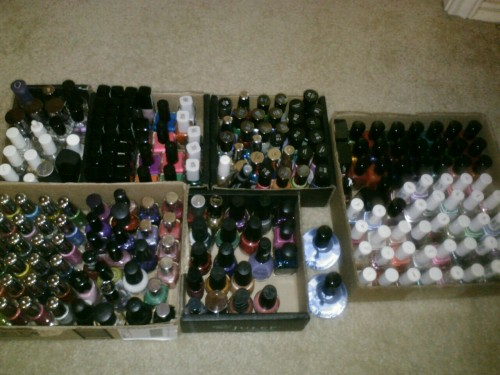 I organized my nail polish again. It may be getting out of control.