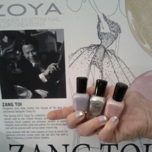 It's happening again people. @zoya_nailpolish @zoyanailpolish is launching this limited quantity Zang Toi collection TONIGHT. #MBFW #NYFW  (Taken with Instagram)
