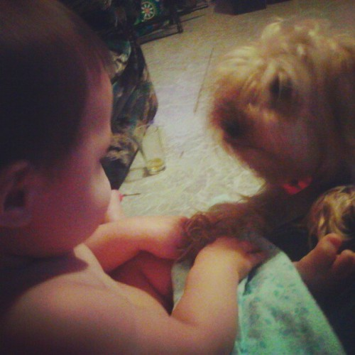 Bonding time with Diddles the dogg :) (Taken with Instagram)