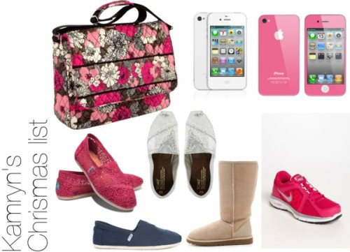 Kamryns Christmas List by pinkiepiexoxo featuring toms shoes