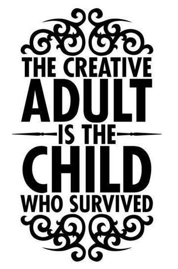 There are a lot of us, especially on blog sites that are super creative adults and teenagers. Now I'm not sure if this goes for everyone but I find myself giggling at my own writing and enjoying myself like I did so much as a kid. We all have an inner child but some of us as we grow up kind of kill it off or cage it up so much that we end up unhappy. Your internal child is the eternal optimist, the creative genius, the artistic playmate, the explorer even in just the backyard and the eager bard that tells the best stories. Through the eyes of your inner child you can see the world as an adventure waiting to happen and be able to record it creatively every day. However kids need nurturing and so does your inner child. So take some time out to nurture your inner child. Maybe they want to go to the aquarium, or the museum. Take them to the park to get ice cream and feed the pigeons. Take them to the zoo or for a nature walk to find pretty rocks. Find something that sparks your imagination and makes you feel more creative and excited for life. After all, it's your adventure in your point of view, share it!