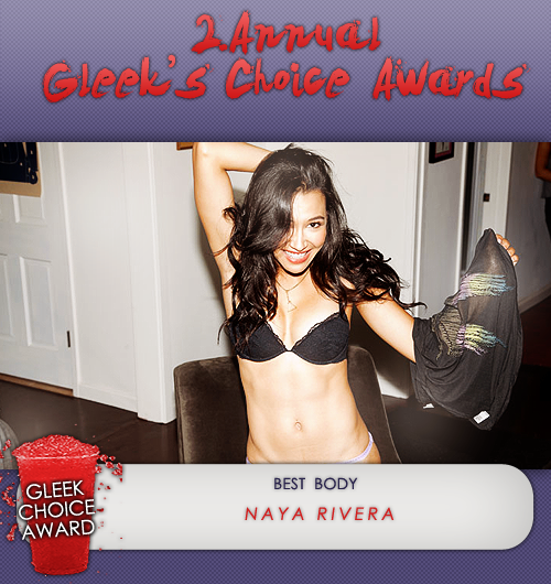 #GleekChoiceAward the Award for Best Body goes to @NayaRivera