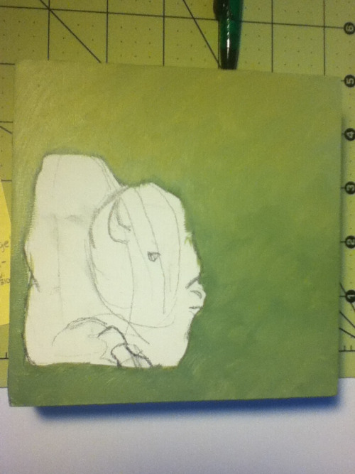 I'm also working on the small bison painting I started two weeks ago. I haven't done much to it… more to come.
