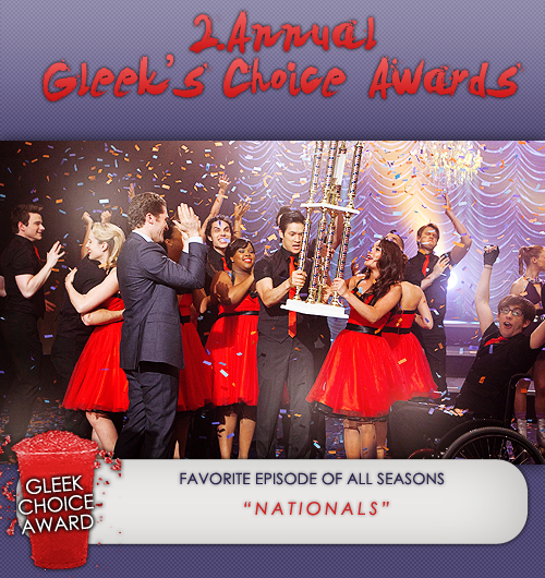 #GleekChoiceAward the Award for Fav.  Episode of all Seasons goes to 3x21 Nationals