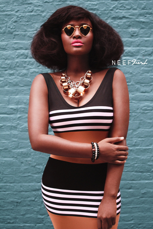 "blackfashion:  Neef Fresh Photography (c) 2012 - Follow Neef Fresh on Tumblr! http://neeffresh.tumblr.com «< Location: Newyork,NY, Makeup also by: Neef Fresh: Hair styling by: Haute Hair Exclusive sneak-peek of the 2012 f/w look-book Neef Fresh shot for www.Rue107.com! Nothing less than pure freshness! Check out the website for fun,cute and fashionable clothing. Neef Fresh's Facebook Fan Page: http://facebook.com/neeffreshphotography don't forget to click ""Like""!"