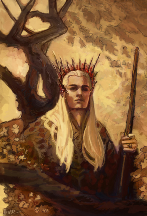 iamnotatimetraveler:  (via Thranduil by ~saramondo on deviantART)