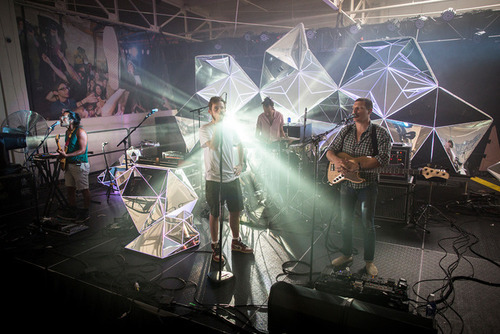 Yeasayer's Crystalline Stage Environment