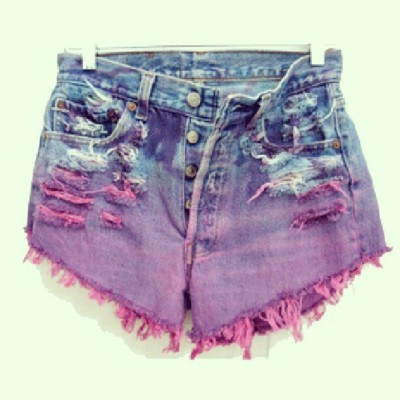 DIY ombre ripped shorts! Haha! :3  (Taken with Instagram)
