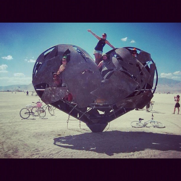 #BurningMan #Steel #Heart #Art #ModernArt #BM2012 #BurningMan2012 #BlackRockCity #BRC #Nevada #NV (Taken with Instagram)