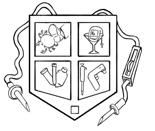 A little coat of arms I drew for the core processing team a while ago.