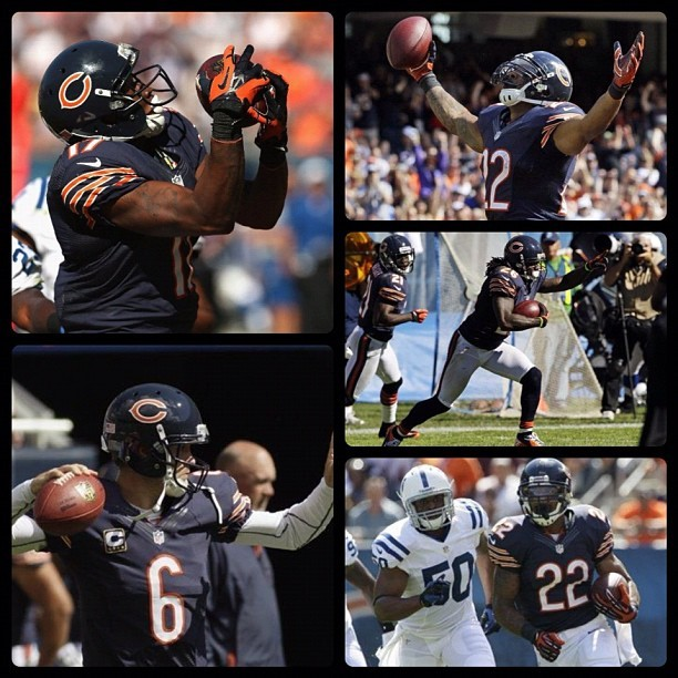 NFL: Colts 21 (0-1, 0-1 away) Bears 41 (1-0, 1-0 home) FINAL  Top Performers Passing: J. Cutler (CHI) - 333 YDS, 2 TD, 1 INT Rushing: M. Forte (CHI) - 16 CAR, 80 YDS, 1 TD Receiving: R. Wayne (IND) - 9 REC, 135 YDS  keepinitrealsports.tumblr.com  pinterest.com/mysterkeepinit  Instagram - @Myster_Keepinit  Twitter - @MysterKeepinit  keepinitrealsports.wordpress.com  flickr.com/keepinit_real_sports   #keepinitrealsports #NFL #Football #Colts #Bears #Cutler #Forte #Wayne #Sports #MysterKeepinit (Taken with Instagram)