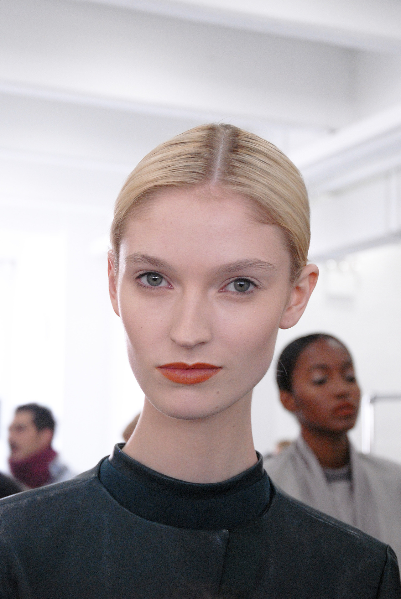 Makeup look for Sally LaPointe at NYFW © AJ Trela 2012