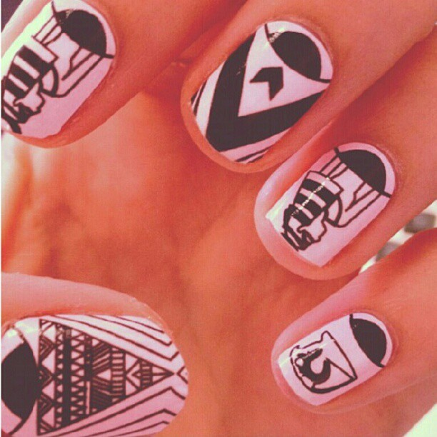 I See You nail wraps designed by M.E. For @shopncla #melodyehsani #nailart www.melodyehsani.com (Taken with Instagram)