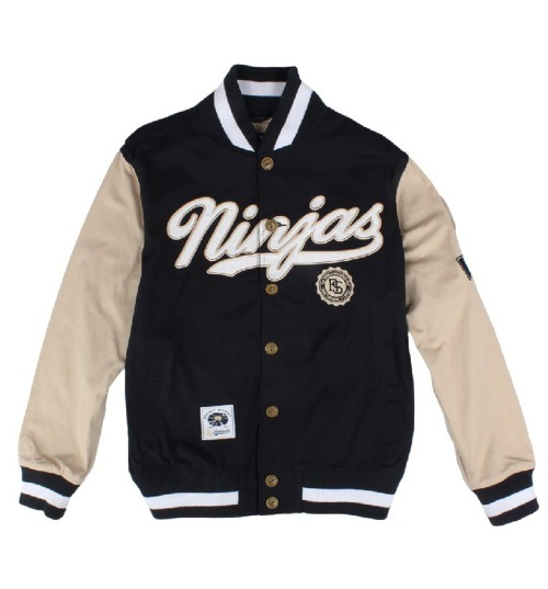 lovekarmaloop:  RockSmith Ninjas Wingman Varsity Jacket Available on Karmaloop.com - Use repcode SMARTCANUCKS at the checkout for 20% off your order!