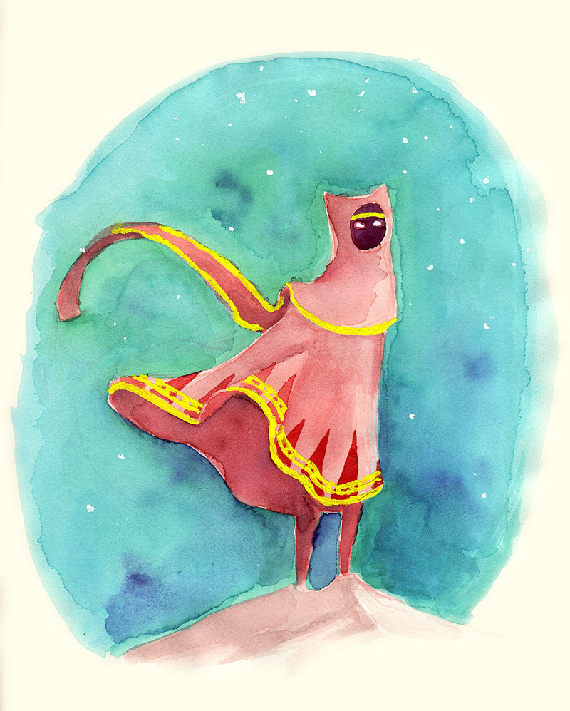 jessarts:  Busted out some watercolors this weekend. Also played more Journey