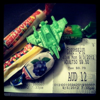 Movie nite with nick(: #movie #candy #airplane #possession (Taken with Instagram)