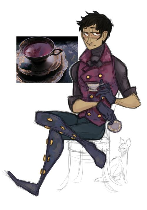 phantomeus:  I made a Jesse outfit scheme based off of a picture of tea I liked. That's about all I have to say about this. Not sure where the original tea photo came from, sorry.