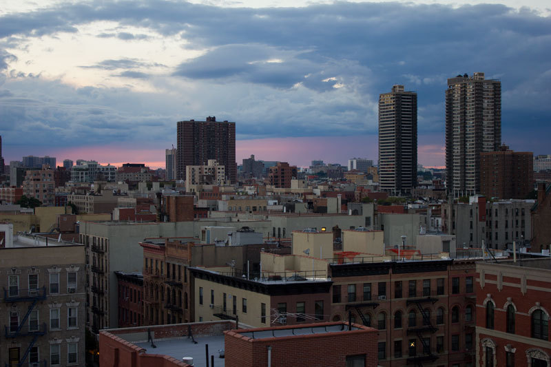 East Harlem at Sunset.