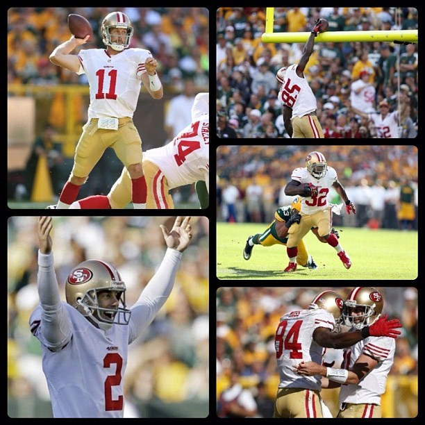NFL: 49ers 30 (1-0, 1-0 away) Packers 22 (0-1, 0-1 home) FINAL  Top Performers Passing: A. Rodgers (GB) - 303 YDS, 2 TD, 1 INT Rushing: F. Gore (SF) - 16 CAR, 112 YDS, 1 TD Receiving: J. Jones (GB) - 4 REC, 81 YDS, 1 TD  keepinitrealsports.tumblr.com  pinterest.com/mysterkeepinit  Instagram - @Myster_Keepinit  Twitter - @MysterKeepinit  keepinitrealsports.wordpress.com  flickr.com/keepinit_real_sports   #keepinitrealsports #NFL #Football #49ers #Packers #Rodgers #Gore #Jones #Sports #MysterKeepinit (Taken with Instagram)
