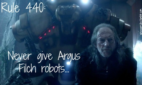 Rule 440: Never give Argus Filch robots.