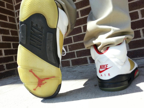 rockyourkicks:  1999 Nike Air Jordan Fire Red 5s #rockyourkicks
