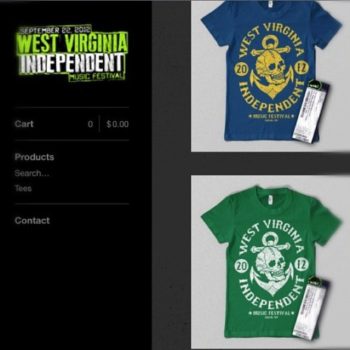 http://wvimf.bigcartel.com is open for 24 more hours. Go get che a shirt. #wvimf (Taken with Instagram)