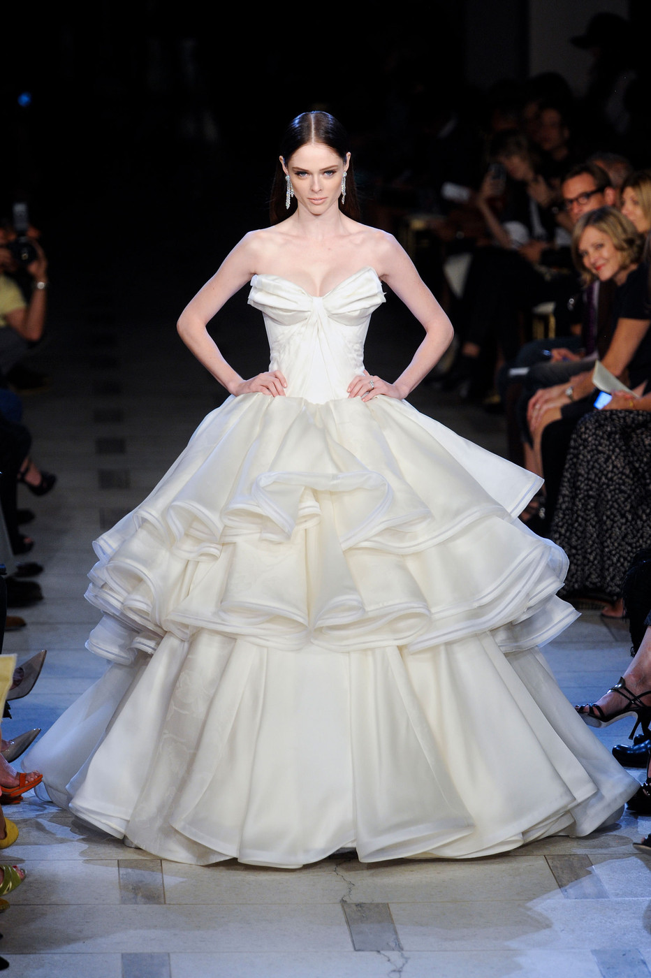 suicideblonde:  Coco Rocha closes the Zac Posen Spring/Summer 2013 show at NYFW, September 9th, 2012